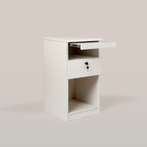 Ykkös yöpöytä laatikolla ja tasolla